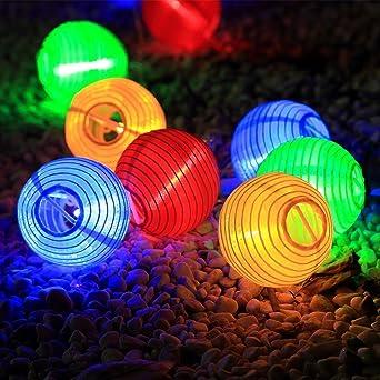 Led Solar Lichterkette Lampions Aled Light Ip65 Wasserdicht 20er Led