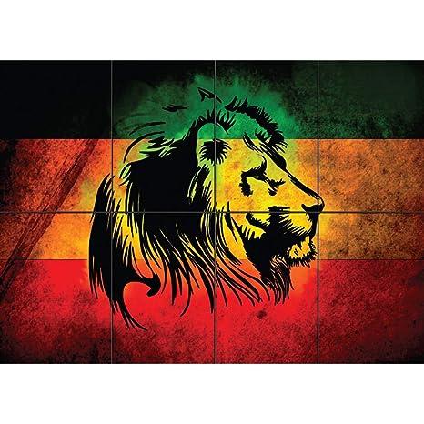 Amazon com: Doppelganger33LTD RASTA LION REGGAE STYLE GIANT