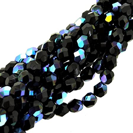 4mm Clear Crystal Faceted Round Fire Polished Czech Glass Beads 100 Preciosa