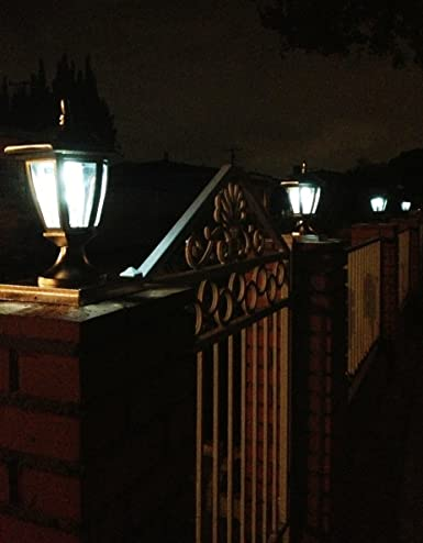 amazon com 2 pk premium solar hexagon light w fence post cap 6inch