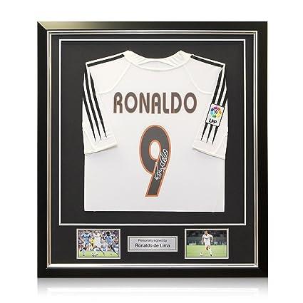 best sneakers 713af 54aae Ronaldo de Lima Signed 2004-05 Real Madrid Home Soccer ...