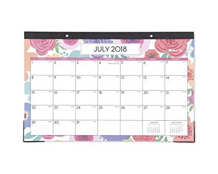 blue sky 2018 2019 academic year monthly desk pad calendar ruled blocks 17quot