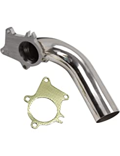 BLACKHORSE-RACING Turbo Exhaust Downpipe 90 Degree Stainless Steel 2.5