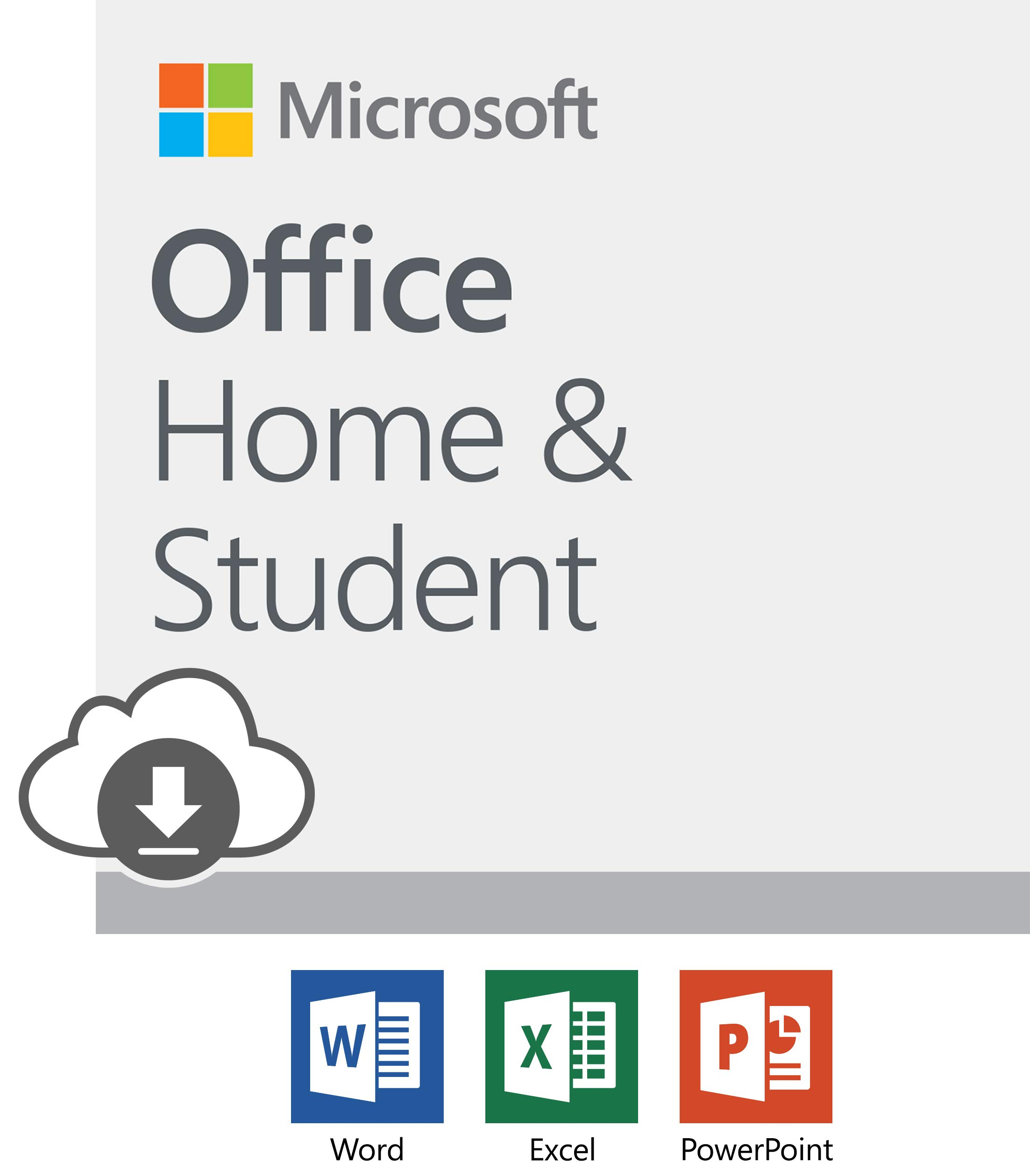 Microsoft Office Home and Student 2019 Download 1 Person Compatible on Windows 10 and Apple macOS by Microsoft
