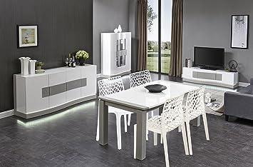 Salon Sejour Complet Table Avec 4 Chaises Buffet Meuble Tv