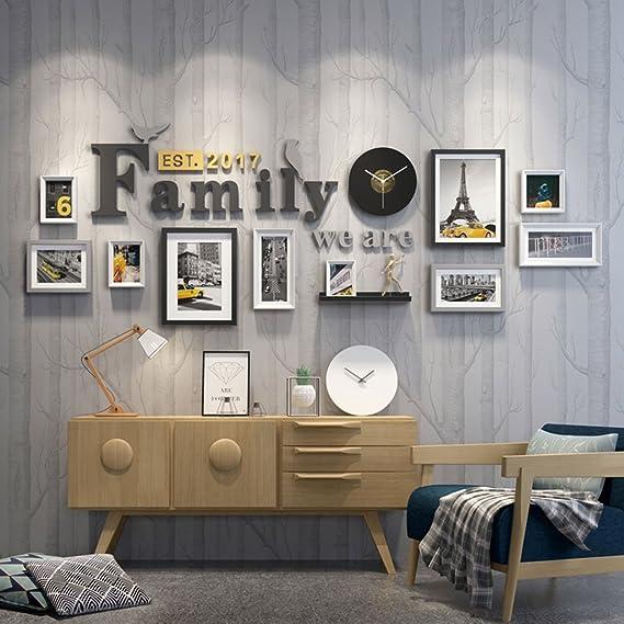 &Marco de fotos múltiples Marco de marcos Conjunto Galería De Fotos Conjunto De Marco De Pared Con Obra Utilizables Y Familia, Conjunto De 10 &Marco de ...