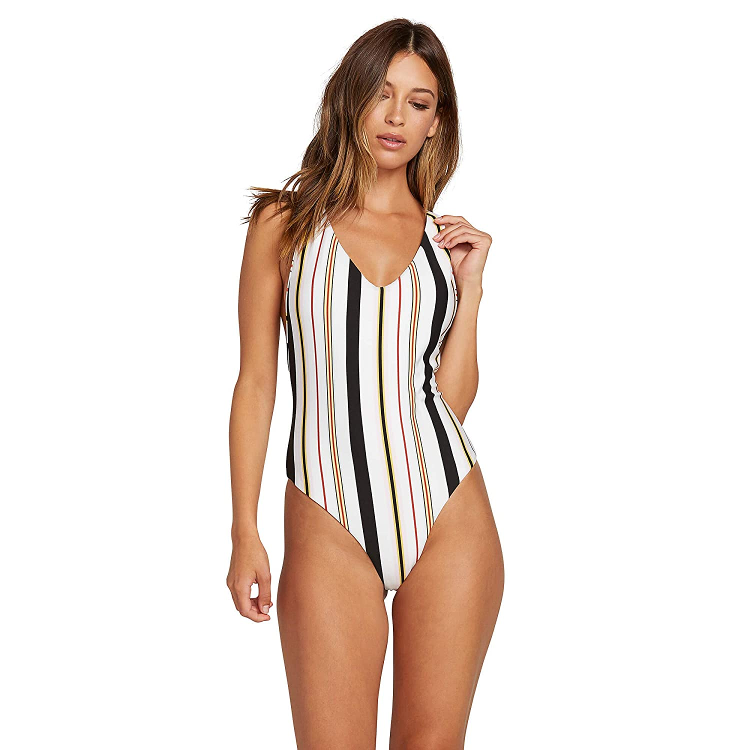 Volcom Womens Thats Stripe One Piece Swimsuit