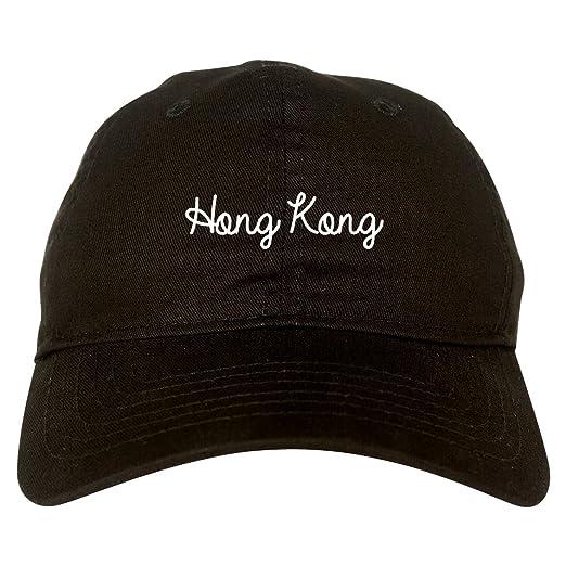 6e614b4784143 Amazon.com  Hong Kong China Script Chest Dad Hat Black  Clothing