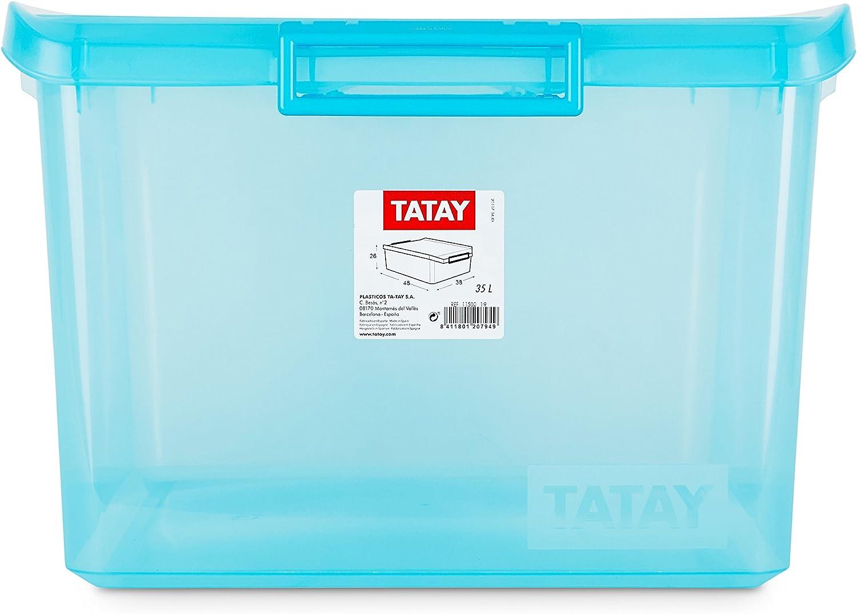 Tatay Caja de Almacenamiento Multiusos con Tapa 35 l de Capacidad ...