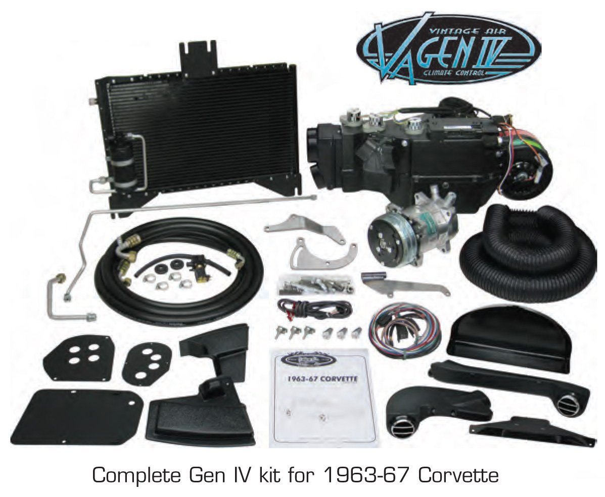 Vintage Air 964163 A/C Complete Kit 63-65Corvette w/Factory Air