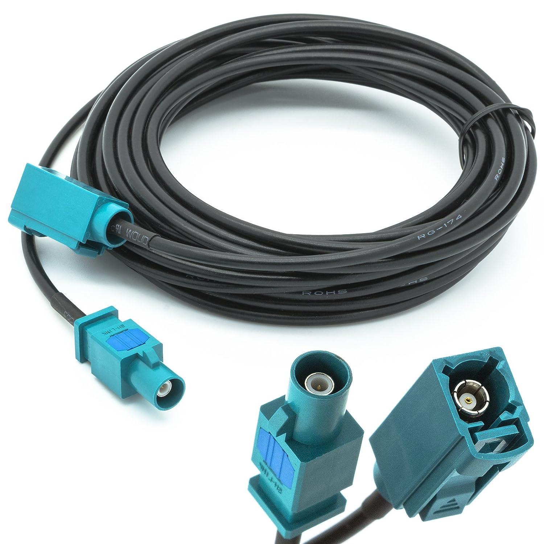 Universe 5 m câ ble rallonge Fakra (M) Adaptateur d'antenne mâ le vers Fakra (F) femelle adaptateur pour antenne GPS universel adapter-universe 1204