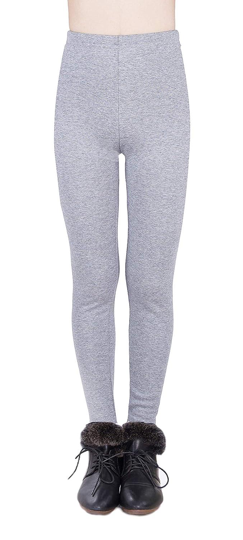 44934acefc3dbd Amazon.com: IRELIA Winter Girls 100% Cotton Fleece Lined Leggings Pants:  Clothing