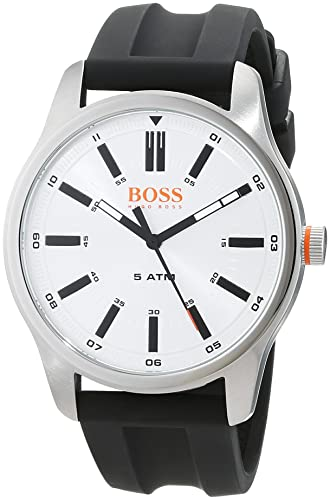 f467c832325 Hugo Boss Orange Mens Analogue Classic Quartz Watch with Leather Strap  1550043  Amazon.co.uk  Watches