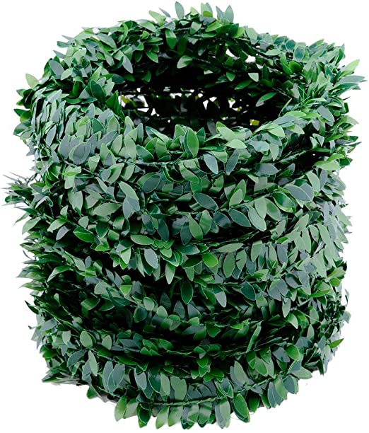 Amazon Com 32 8 Yards Artificial Ivy Garland Foliage Green Leaves Fake Vine Headband Artificial Leaf Vine Fake Hanging Plants For Wedding Party Ceremony Diy Headbands Home Kitchen