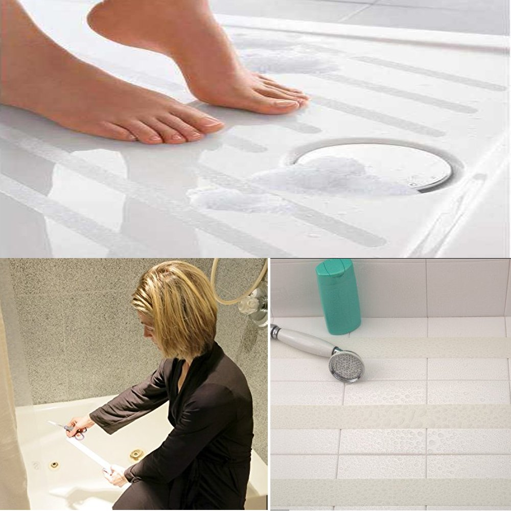 Amazon.com: Newprous Non Slip Grip Tape Roll Adhesive Anti Slip Non Skid Safety High Friction Tape Bath Shower Treads Non-slip Stickers W2 X L16.5 Clear: ...