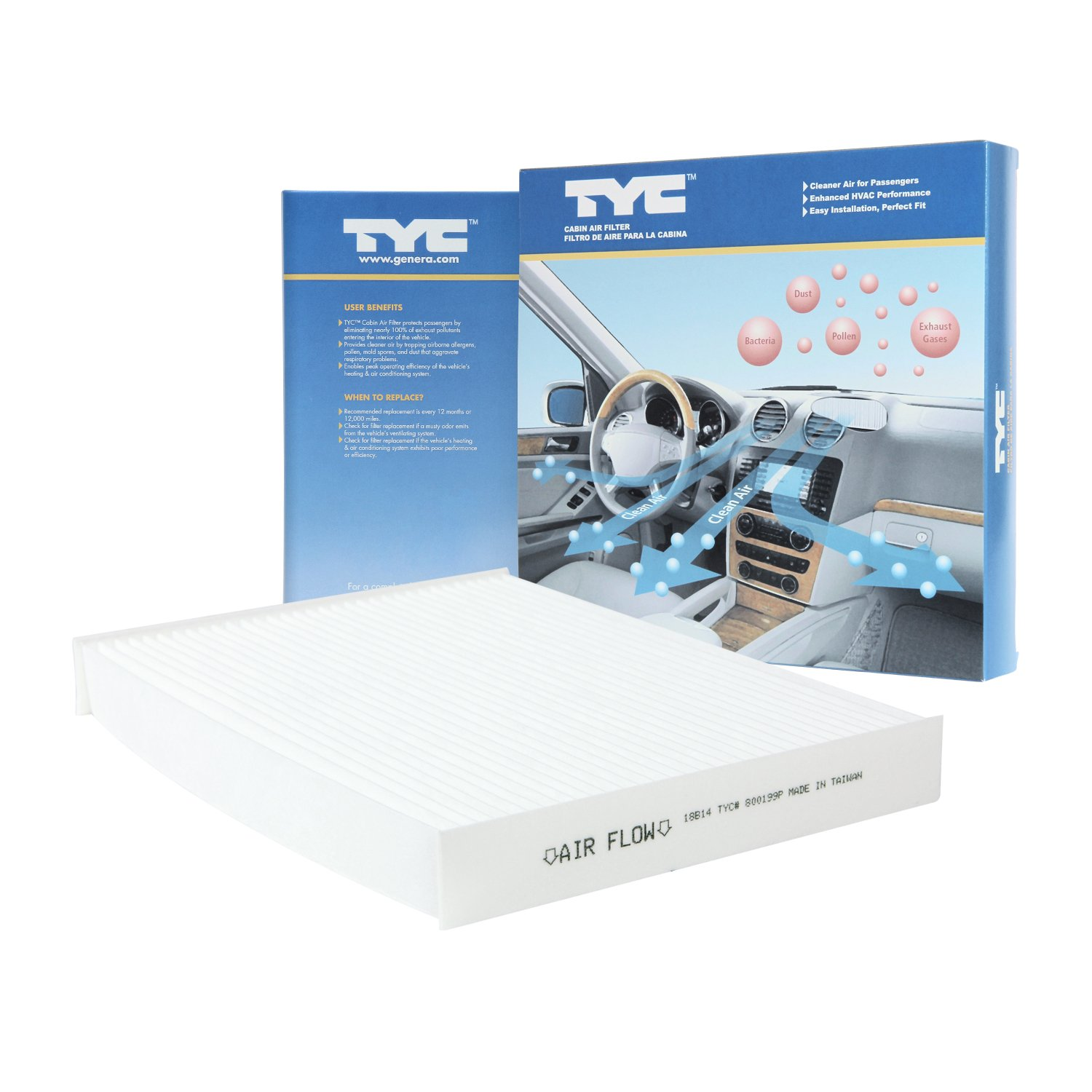 TYC 800199P KIA Soul Replacement Cabin Air Filter