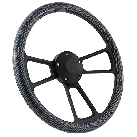 "Black 13/"" Boat Steering Wheel 3//4/"" Bore 3-Spoke Vinyl *FREE SHIPPING*"