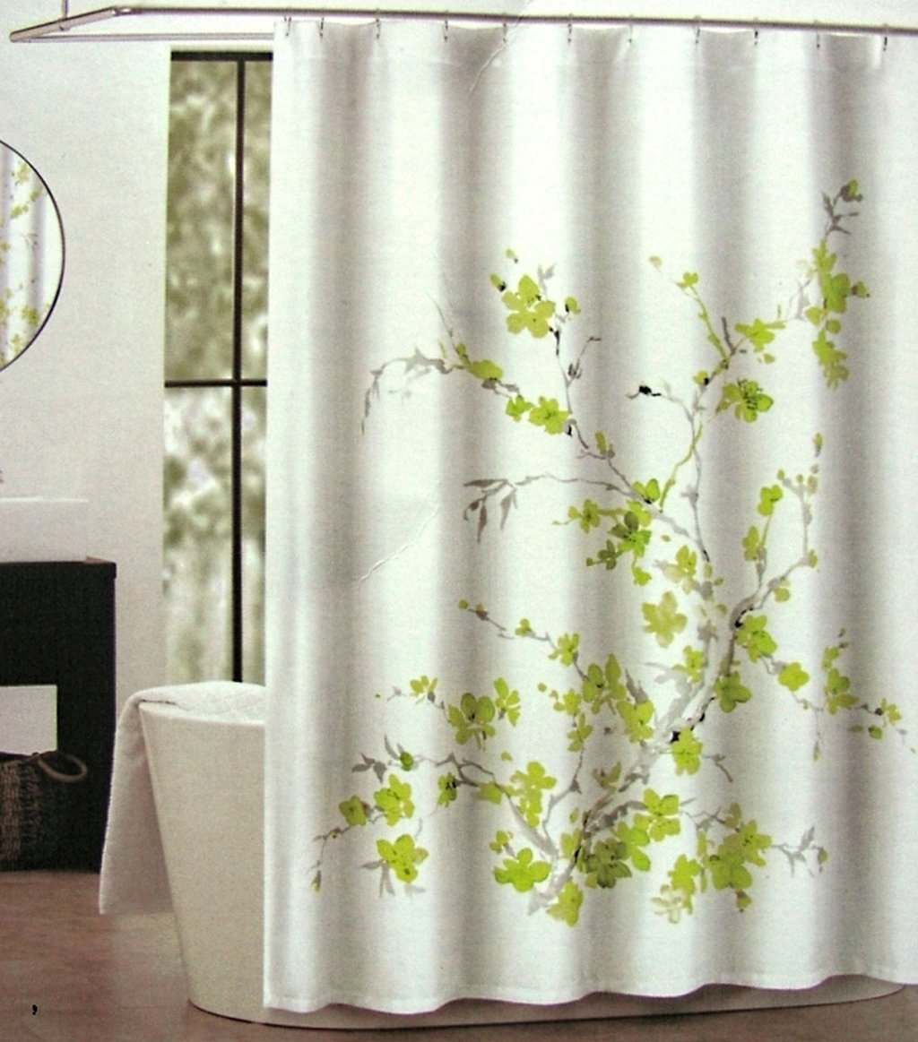 hookless white shower home fabric amazon curtain in with curtains pique dp kitchen com diamond built liner