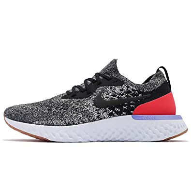 a6e5d5014a Amazon.com | NIKE Mens Epic React Flyknit, Black/White-RED Orbit, 9.5 M US  | Athletic