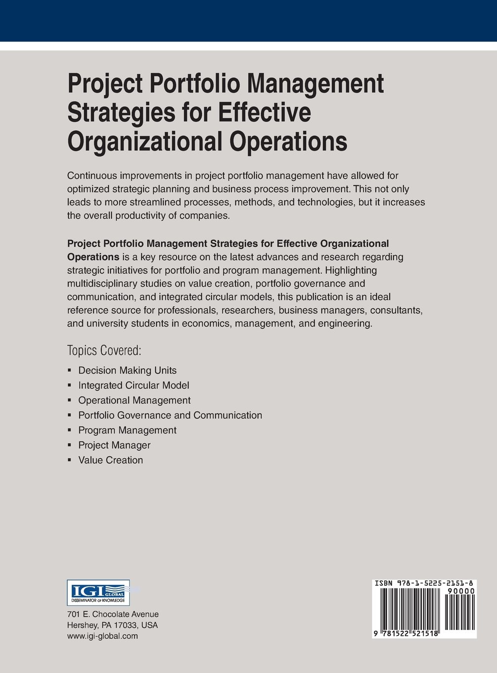 Project Portfolio Management Strategies for Effective Organizational Operations (Advances in It Personnel and Project Management)