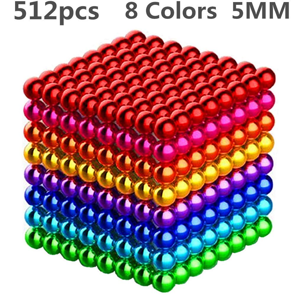 XIMI 512 Pieces 5 Millimeter Magnets DIY Toys Magnetic Sculpture Building Blocks Fidget Gadget Toys for Intelligence Learning -Office Toy & Stress Relief for Adults by XIMI