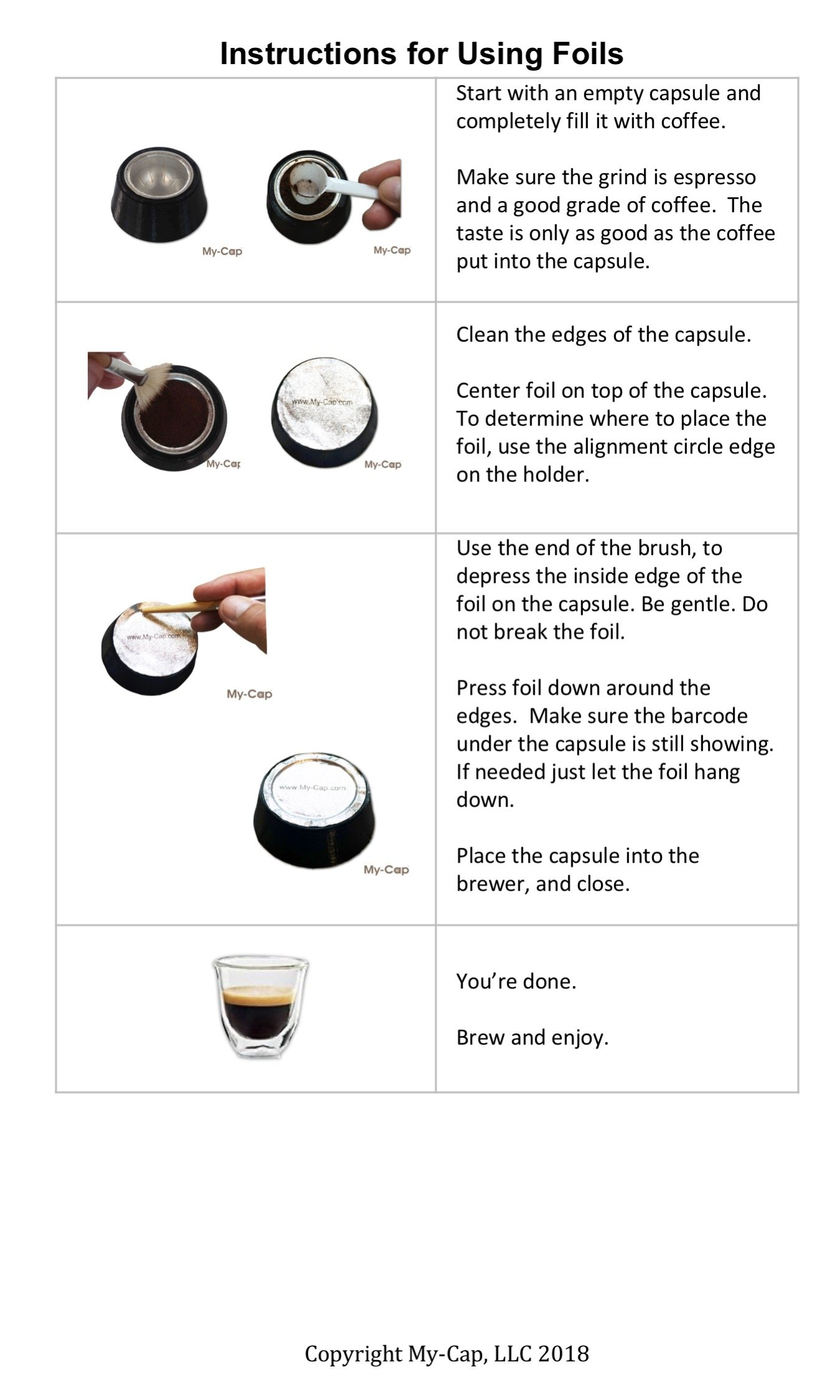 My-Cap vPACK - Complete Solution to Make Your Own Capsules and Pods for Nespresso VertuoLine Brewers by My-Cap (Image #2)