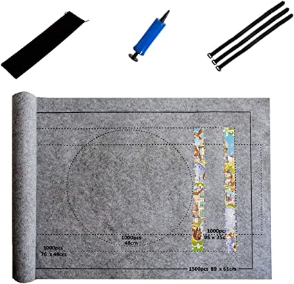 Puzzles Mat Jigsaw Roll Felt Mat Blanket For Up to 1000PC Puzzle AccessoriesRIB