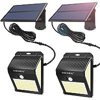MEIKEE Lámparas Solares de Seguridad 450LM, LED Foco Solar con Sensor de Movimiento IP65, Iluminación de Exterior Blanco…