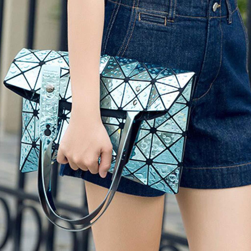 DXQI Damenmode PU Umhängetasche Große Kapazität Handtasche Casual Tasche für für für Damen (Farbe   Blau, größe   One Größe) B07L66916D Schultertaschen Moderne Technologie 956de8