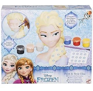 Sambro – Frozen : Il Regno di Ghiaccio – Trucca E Pettina Elsa – Piccola Testa da Pettinare E Acconciare