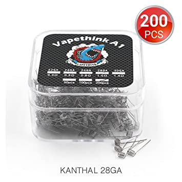 200 Stück vorkompilierte Draht,Kanthal A1 Coil 28 AWG Heating Wire ...