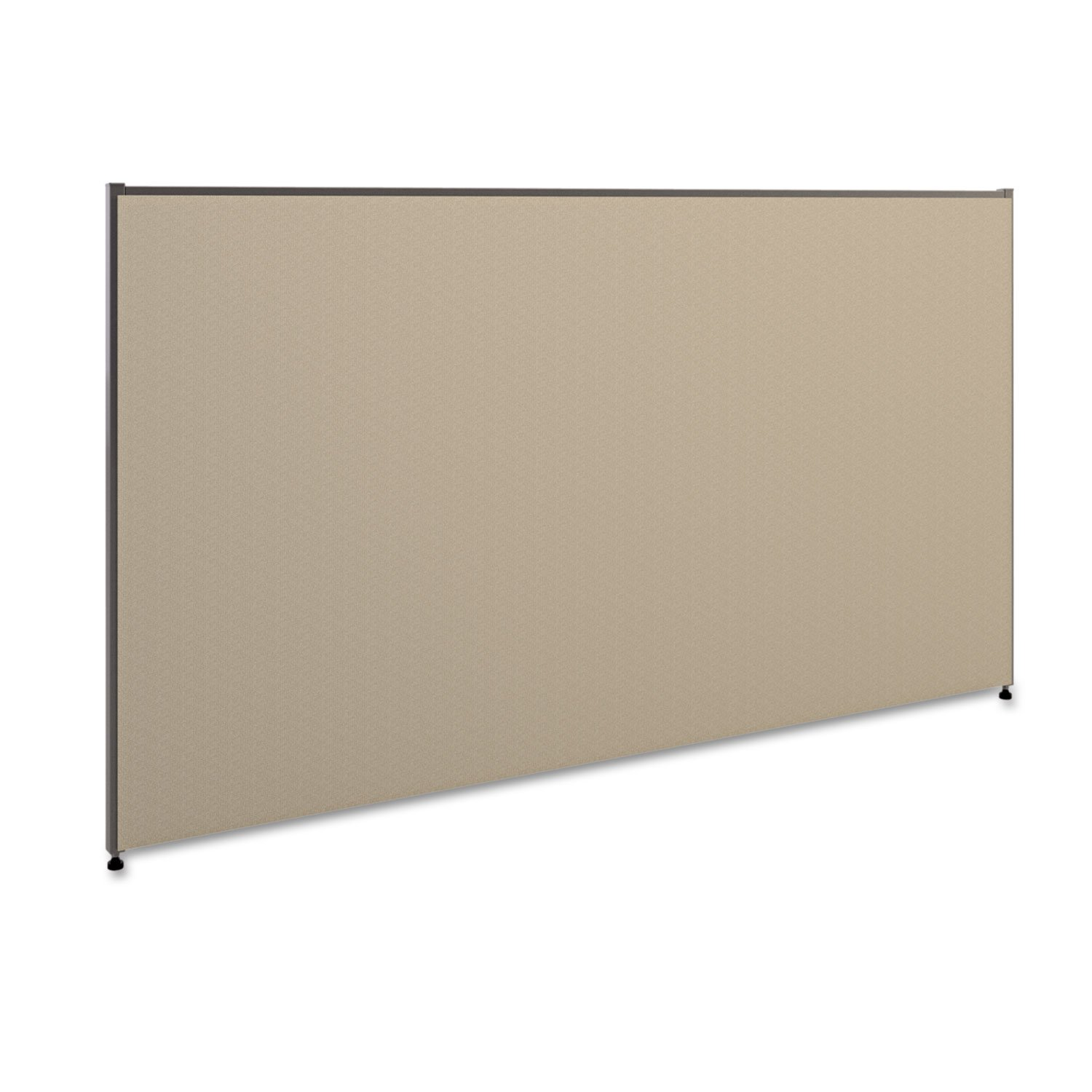 HON Verse Panel , 42''H x 72''W , Light Gray Finish , Gray Fabric