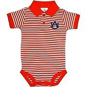 Auburn University Tigers Newborn Striped Polo Bodysuit Orange 0-3 Months