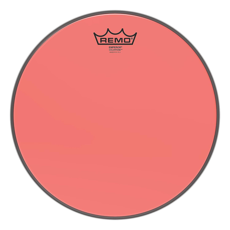 Remo Emperor Colortone Red Drumhead, 12