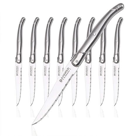 Amazon.com: Juego de 8 cuchillos de cocina, juego de plata ...