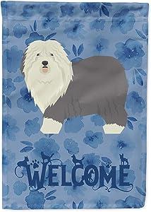 Caroline's Treasures CK6256GF Old English Sheepdog Welcome Flag Garden Size, Small, Multicolor