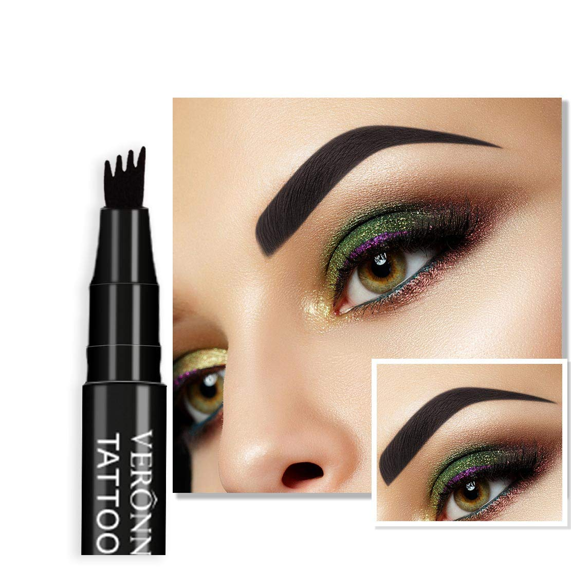 Amaping Liquid Eyebrow Pencil Lasting Waterproof Multifunctional Automatic Eyebrow Pencil Makeup Kit Permanent Microblading (D)