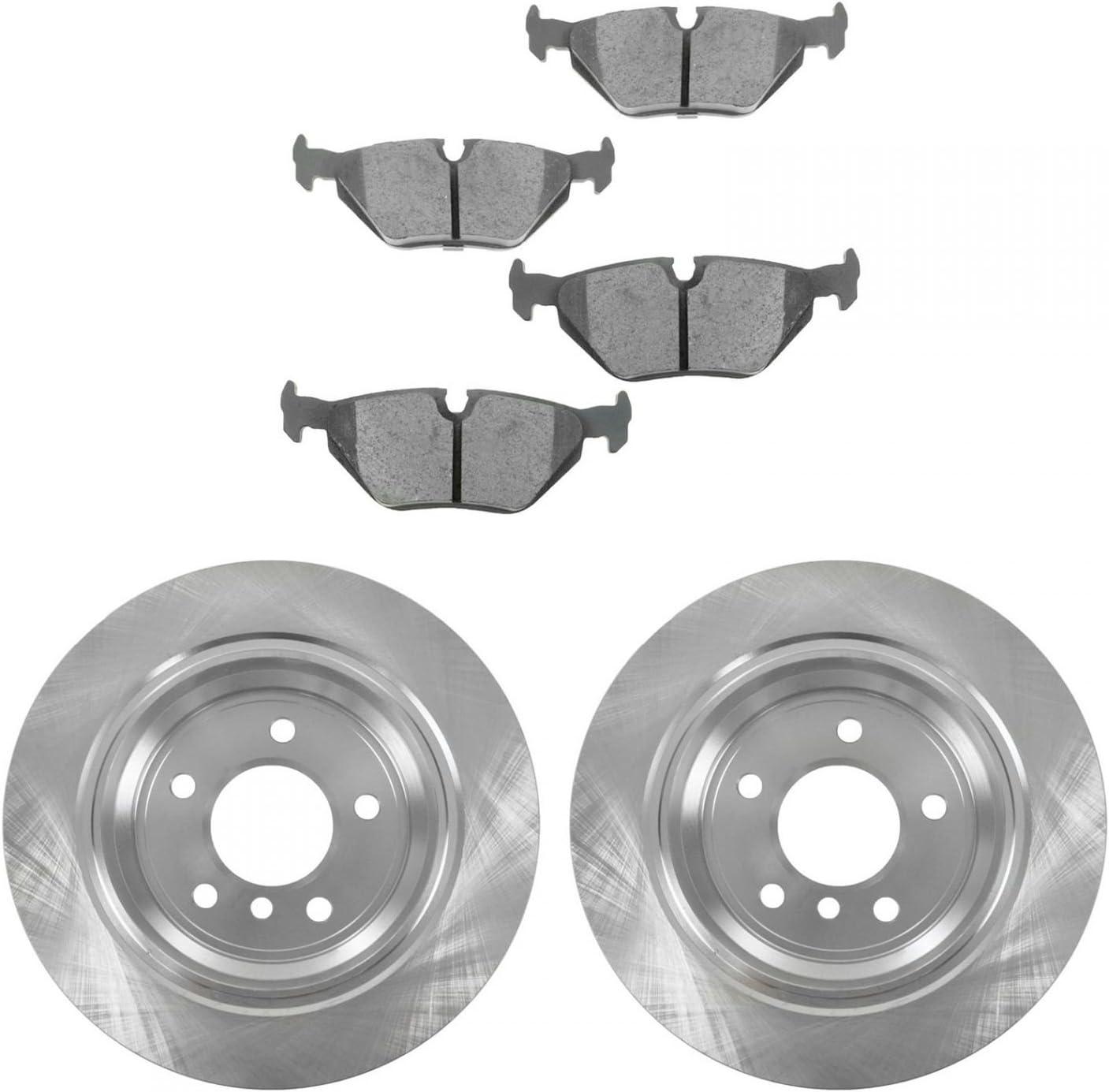 Front + Rear Rotors w//Ceramic Pads OE Brakes 1997 1998 1999 2000 BMW 540i
