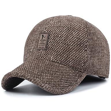 Sombrero de Gorra de béisbol de Lana de Tweed de Lana cálida de Invierno de los