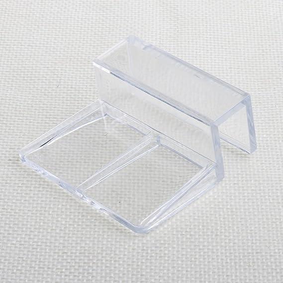 Haven shop - 4 Clips de acrílico para acuarios y peceras, Soporte para Cubiertas de Cristal, Clips universales para acuarios sin Llama: Amazon.es: Productos ...