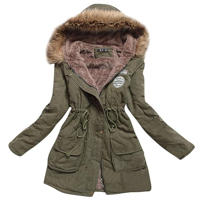 Amazon.com: Abrigo de invierno con capucha para mujer, parka ...