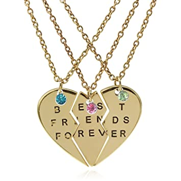 Amazoncom Tisda Best Friends Forever Set Of Three Necklaces With