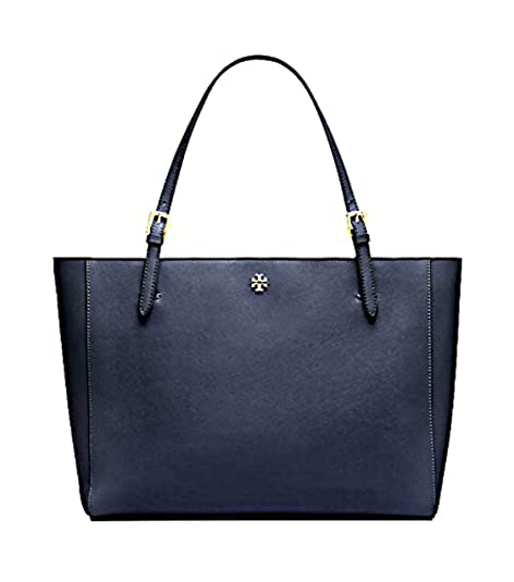 7e8352808 Tory Burch Emerson Small Buckle Tote Bag Luggage 49127 (Royal Navy ...