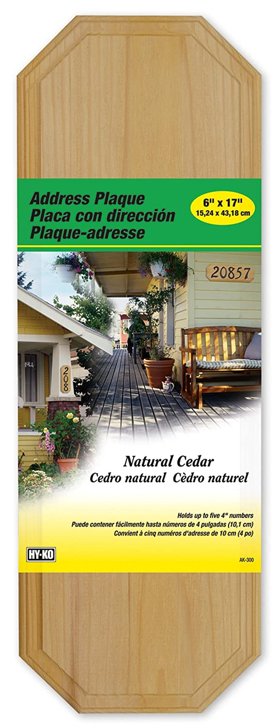 Hy-Ko AK-300 Cedar Address Plaque, 6 x 17 6 x 17 Jensen (Home Improvement)