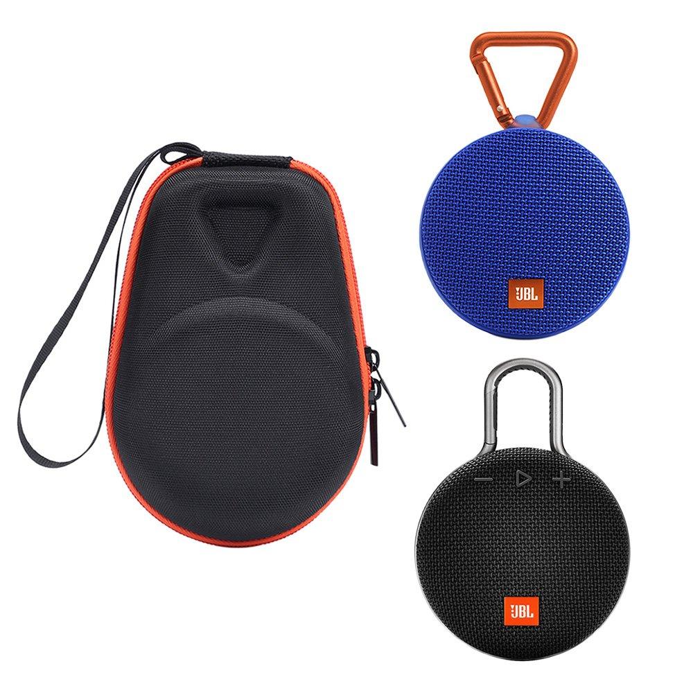 Travel Case For JBL CLIP 3 - MASiKEN 2018 Design Hard Carrying Case For JBL Clip 3/JBL CLIP 2 Waterproof Portable Bluetooth Speaker (Black)