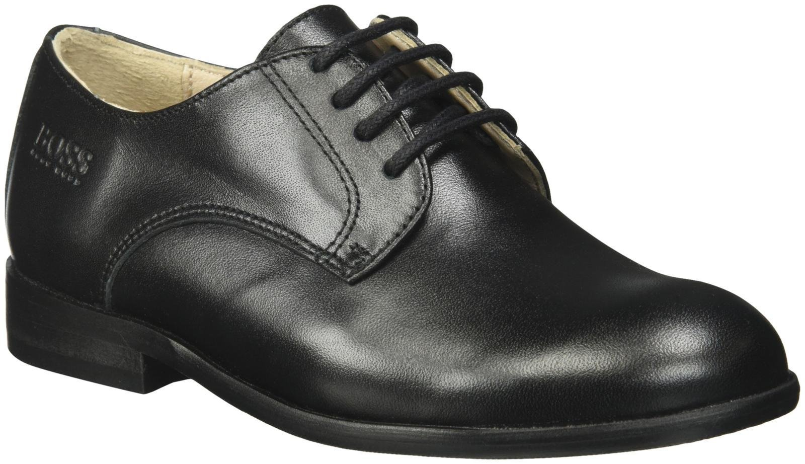 Hugo Boss J29115 Essential Leather Shoes, Black, 27 FR(10 M US Toddler) by HUGO BOSS