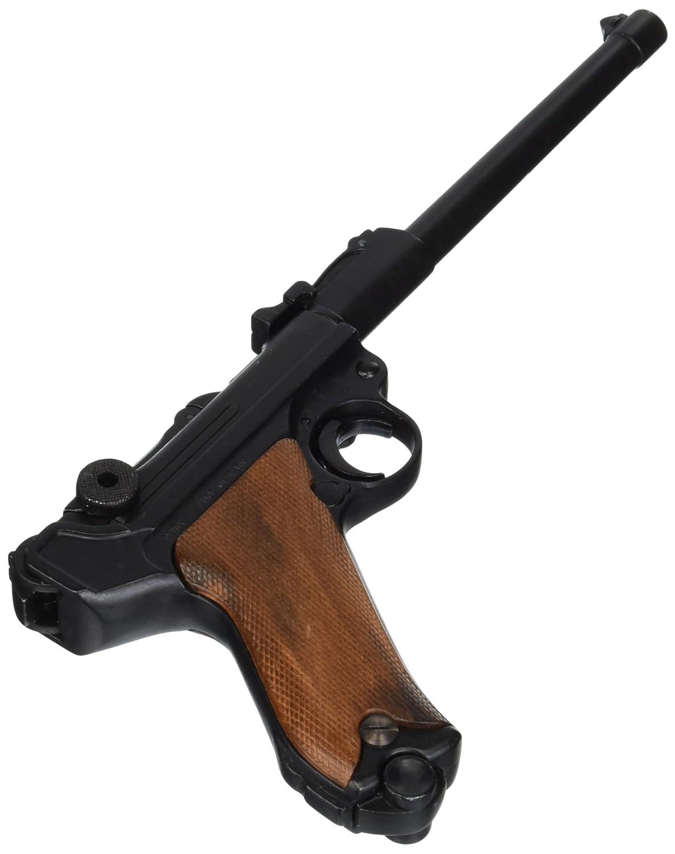 Deko Waffe Luger P08 Artillerie, ultralang, Pistole 08, Parabellum-Pistole, Holzgriff