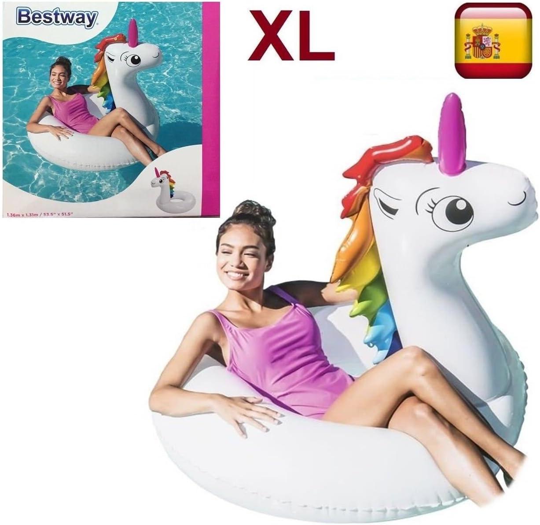 Bestway Flotador hinchable UNICORNIO gigante diversion playa o ...