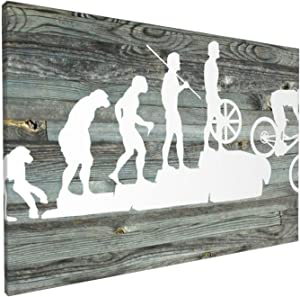 Canvas Wall Art with Mountain Bike Downhill Painting Print, 12