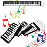 JAEZZIY Roll Up Piano, 88 Keys Electric Piano Keyboard, Upgraded Portable Keyboard Piano with Bluetooth Microphone Built…
